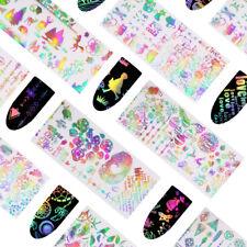 10Pcs Valentine's Day Holographic Nail Foils Rose French Nail Art Sticker 4*20cm
