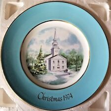 "1974 Avon Christmas Plate "" Country Church"" 2nd edition 8.75 inches"