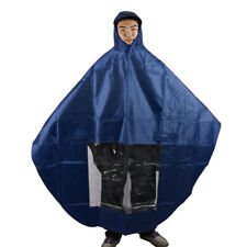 New listing Light Blue Waterproof Hooded Raincoat Poncho Cover Protector for Motorcycle