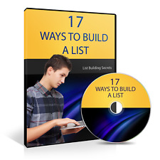Build A Responsive And Profitable List 17 Different Ways By Mark Hendricks (CD)