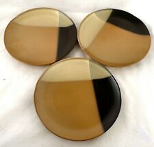 Sango GOLD DUST BLACK Round Plate set of 3 #5022