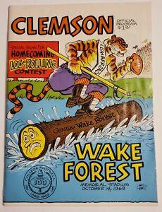 CLEMSON VS WAKE FOREST - OCT. 18, 1969 - PHIL NEEL COVER