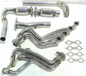 OBX Exhaust Long Tube Header For 2000 To 2005 GM Hummer H2 GMC Denali 6.0L