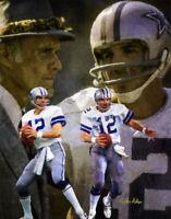 Roger Staubach Dallas Cowboys HOF Super Bowl QB Quarterback Art 1  8x10 - 48x36