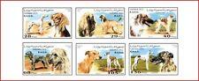 SAH9603 Dogs 6 pcs MNH SAHARA