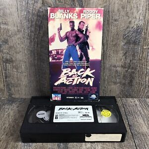 Back In Action VHS 1094 Billy Blanks Rowdy Roddy Piper Cult Film Rare Rental