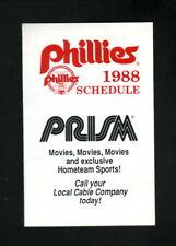 Philadelphia Phillies--1988 Pocket Schedule--Prism