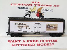 HO CUSTOM LETTERED OLD SHAY GOLDEN BEER BOXCAR FREIGHT CAR REEFER.  LOT 1A