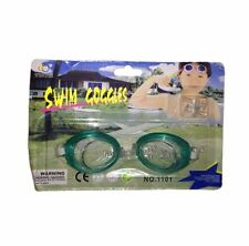 Swim Glasses Swimming Goggles with Earplugs - Dark Green