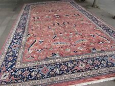 Old Traditional Hand Made Indian IndoPersian Oriental Wool Pink Carpet 555x355cm