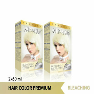[MIRANDA] Premium Hair Bleach Decoloring Long Lasting Hair Dye 2x60ml