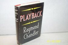 Playback Raymond Chandler U. K. Hardcover W/jacket Mystery English First edition