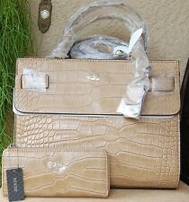 NWT GUESS Cate Satchel Handbag & Wallet Set Color Butterscotch (Brown)