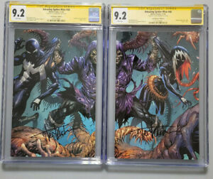 AMAZING SPIDER-MAN #48 CGC SIG SERIES 9.2 COVER B SET SIGNED BY TYLER KIRKHAM