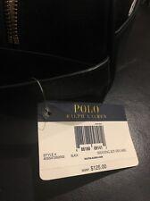 POLO RALPH LAUREN Men's Leather Toiletry Shave Kit Bag Travel Case Black $125.00
