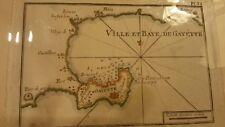 Antique map, Plan de la Ville et baye de Gayette