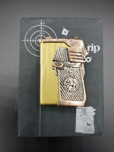 Rare Limited Edition Gun Grip Brass Zippo Lighter Japan Brand New!  Early 2000's