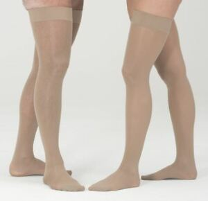 Mediven Assure 15-20 mmHg Unisex Closed Toe Thigh Highs w/ Silicone Top Band