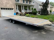 2019 Sno Pro Aluminum 24 ft snowmobile ATV Trailer Deck Over
