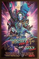 GUARDIANS OF THE GALAXY 2 Cast (x5) Authentic Hand-Signed IMAX image 11x17 Photo