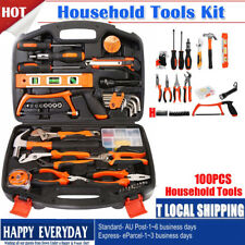 100 PCS Home Hand Tool Set Kit Household Mechanics Remover Repair Case Toolbox