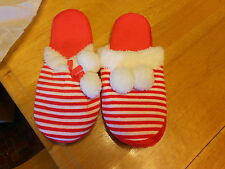 Slippers from Avon Women (new) RED & WHITE STRIPED  (SM)