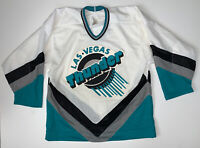 Vintage 90s Las Vegas Thunder IHL Hockey Jersey Size 48 Fight Strap Authentic
