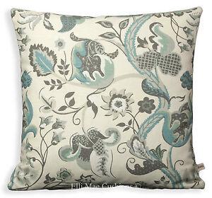Blendworth Radiance Designer Fabric Blue Cream Sofa Cushion Pillow Cover Throw
