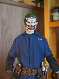 Custom Painted Mezco 1/12 New 52 Greg Capullo Joker HEAD ONLY