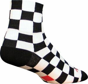 SockGuy Classic Ridgemont Socks 3 inch Black White Checker Small Medium