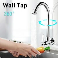 360° Faucet Wall Mounted Basin Sink Spray Single Water Outlet Kitchen    1