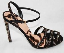 AUTH Gucci Women Fleur Studded Suede Sandal Shoes 39