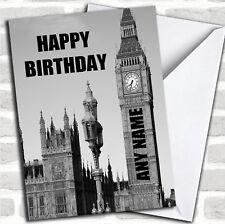 Big Ben Reloj Londres Divertido Cumpleaños Personalizadas Tarjeta