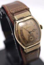 Benrus Shock-Absorber Mens Swiss 10K Rose Gold Filled Cuff Watch BB 3 15J Runs