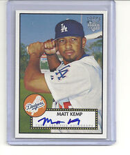 2006 TOPPS 52 MATT KEMP ROOKIE AUTO SIGNATURE SHORT PRINT ON CARD