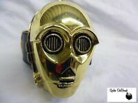 MASSIVE STAR WARS C-3PO PROTOCOL DROID 3D HEAD BUCKLE WITH BELT *BRAND NEW*