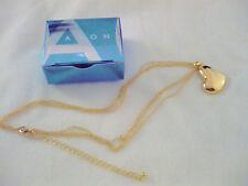 "Avon Heart Pendant on Multistrand Chain Goldtone 16"" with 3"" extender"