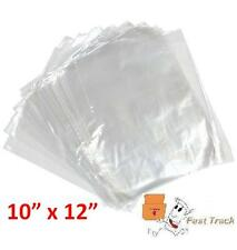 """10000 x CLEAR POLYTHENE 10"""" x 12"""" PLASTIC FOOD APPROVED BAGS  -100 GAUGE *FAST*"""
