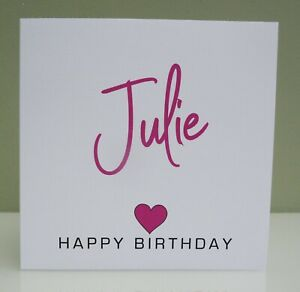Personalised Birthday Card Girls/Ladies 16th 18th 21st 40th Any Age/Relative