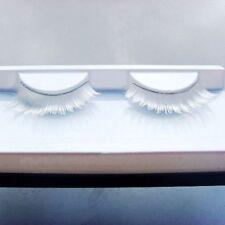 Feather Dance Fancy Lash Makeup Long Fake Eyelashes White False Eyelashes