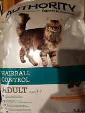 Authority Hairball Control Adult Cat Food Chicken And Rice Formula 3.5 Lbs