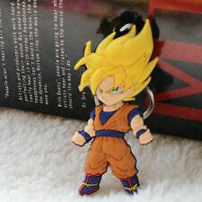 Dragon Ball keychain  Goku Super Saiyan  Silicone PVC  figure pendant Keyring