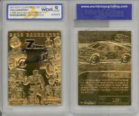 DALE EARNHARDT 2001 23KT Gold Card Sculpted *7-TIME CHAMPION* Graded GEM MINT 10