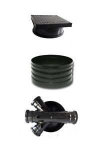 320mm Manhole Inspection Chamber Square Cover/Lid 1x Riser Base Set