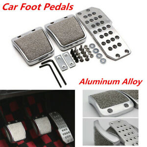 Aluminum Vehicle Foot Pedals Pad Clutch Brake Non-Slip Manual Footst Cover Part