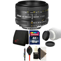 Nikon AF FX NIKKOR 50mm f/1.8D Lens for Nikon D7000 D7100 and Accessory Kit