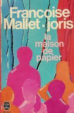 La maison de papier.Françoise MALLET-JORIS.Livre de poche  L001