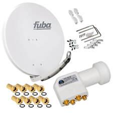 FUBA DAA 850 4K Alu SAT Antenne Spiegel 85cm Schüssel + Premium Quad HB LNB HD
