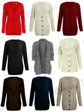 Button Cotton All Seasons Jumpers & Cardigans for Women