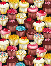 Cupcakes Birthday Party Food Holiday Timeless Treasure #2147 By the Yard